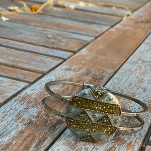 Jewelry - Silver and gold nineties style bracelet